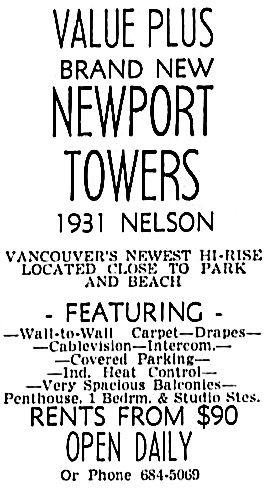 Vancouver Sun, May 28, 1965, page 44, column 2.