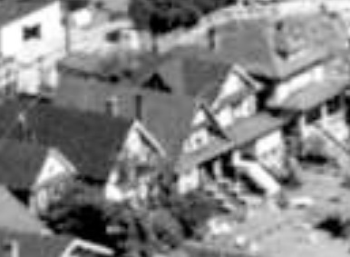 1935 Comox Street and 1929 Comox Street; 1962; detail from West End from the air, Vancouver City Archives; Air P96; https://searcharchives.vancouver.ca/west-end-from-air.