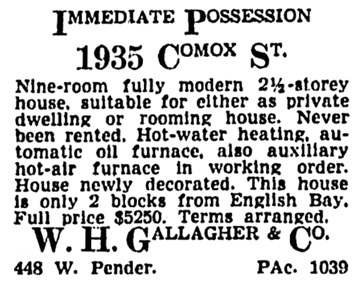 Vancouver Province, November 19, 1942, page 20, column 5.