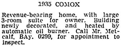 Vancouver Sun, September 10, 1948, page 36, column 6.