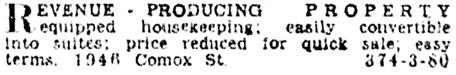 Vancouver Province, June 15, 1930, page 25, column 8.