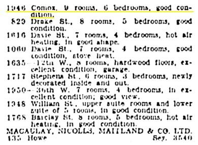 Vancouver Province, November 26, 1928, page 15, column 6.