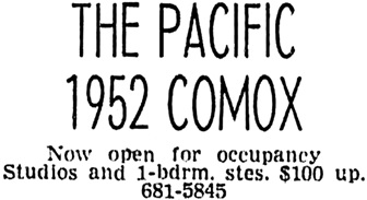 Vancouver Sun, July 23, 1964, page 42, column 4.