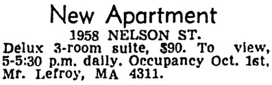 Vancouver Province, August 31, 1950, page 22, column 6.