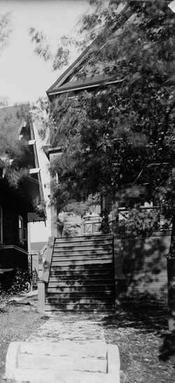 1961 Comox Street - detail from Exterior of the A.C. Hirschfeld home, 1963 Comox Street, Vancouver, about 1910; British Columbia Archives, Item I-68824; https://search-bcarchives.royalbcmuseum.bc.ca/exterior-of-c-hirschfeld-home-1963-comox-street-vancouver-2.