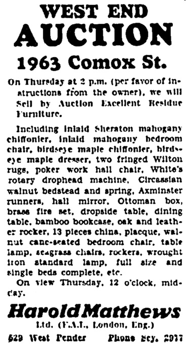 Vancouver Province, May 7, 1929, page 23, column 5.