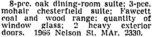 Vancouver Sun, May 22, 1946, page 13, column 6.