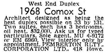Vancouver Province, October 15, 1958, page 29, column 6.