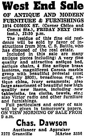 Vancouver Sun, December 18, 1940, page 24, column 4.