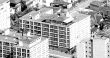 1975 Pendrell Street, 1962; detail from West End from the air, Vancouver City Archives; Air P96; https://searcharchives.vancouver.ca/west-end-from-air.