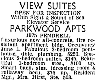Vancouver Sun, May 12, 1956, page 41, column 5.
