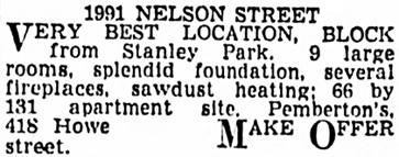 Vancouver Province, June 22, 1939, page 20, column 8.