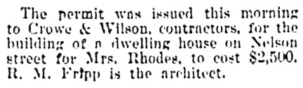 Vancouver World, February 15, 1901, page 7, column 4.