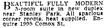 Vancouver Province, September 8, 1938, page 20, column 3.