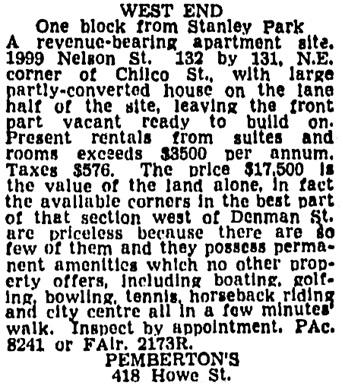 Vancouver Province, June 18, 1945, page 17, column 8.