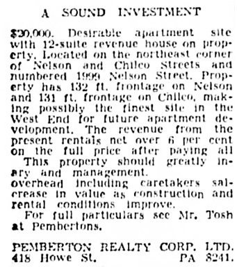 Vancouver Province, May 17, 1947, page 38, column 1.
