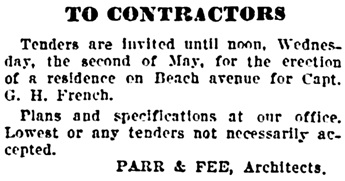 Vancouver Daily World, April 24, 1906, page 4, column 6.