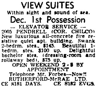 Vancouver Province, October 21, 1955, page 44, column 8.