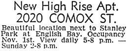 Vancouver Sun, October 19, 1968, page 45, column 6.