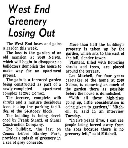 Vancouver Sun, October 30, 1968, page 18, column 3.