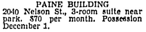 Vancouver Province, November 12, 1954, page 38, column 3.