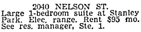 Vancouver Sun, November 10, 1964, page 38, column 7.