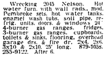Vancouver Sun, October 29, 1964, page 47, column 1.