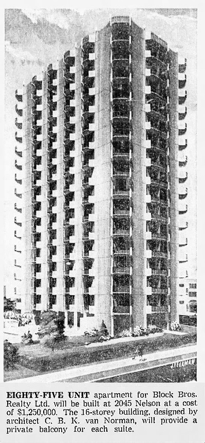 Vancouver Province, November 21, 1964, page 23, columns 3-4.