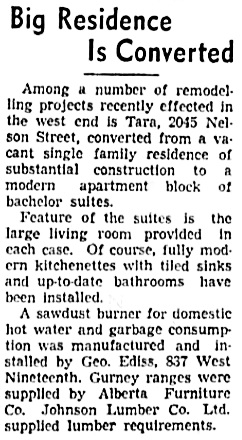 Vancouver Sun, October 5, 1940, page 27, columns 6-7.