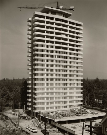 2050 Nelson Street apartments, under construction; September 6, 1963; photographer, Otto F. Landauer; http://www.jewishmuseum.ca/node/1997; [searched July 21, 2013; link no longer active in 2019].