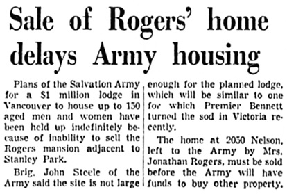 Vancouver Province, May 31, 1961, page 17, columns 1-2.