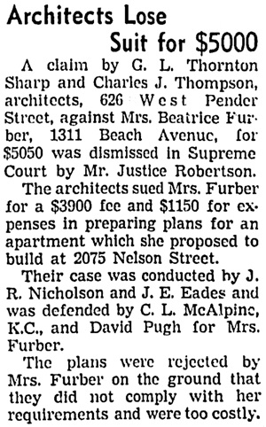 Vancouver Sun, April 27, 1939, page 2, column 3.
