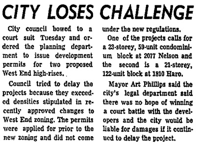 Vancouver Sun, February 21, 1973, page 12, columns 4-5.