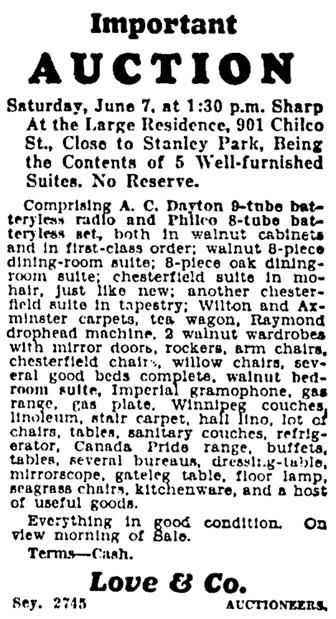 Vancouver Province, June 6, 1930, page 25, column 8.