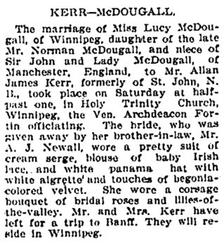 Montreal Gazette, June 20, 1912, page 2, column 1.