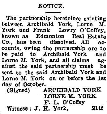 Edmonton Journal, September 21, 1907, page 5, column 2.