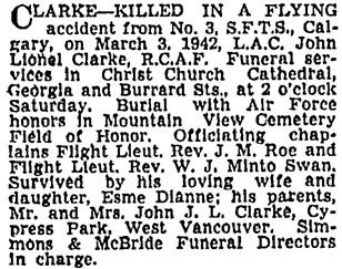 Vancouver Sun, March 6, 1942, page 20, column 1.