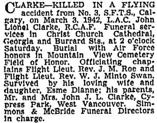 Vancouver Sun, March 6, 1942, page 20, column 1.