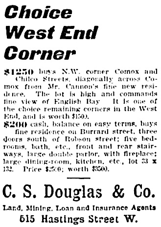 Vancouver Province, September 18, 1902, page 6, column 5.