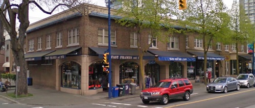 Northwest corner of Denman Street and Nelson Street; Google Streets; searched February 4, 2019; image dated April 2009.