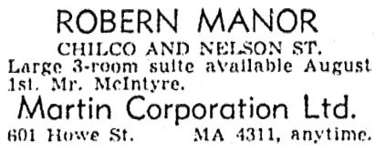 Vancouver Province, July 7, 1951, page 34, column 2.