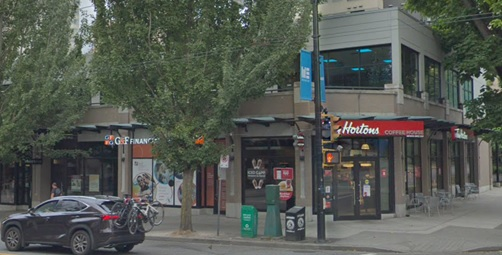 Southwest corner of Nelson Street and Denman Street; Google Streets; searched February 4, 2019; image dated August 2018.