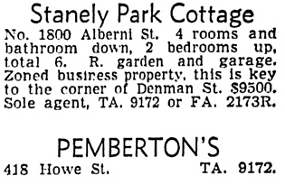 Vancouver Sun, May 22, 1954, page 39, column 8.