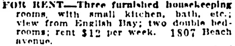 Vancouver Daily World, May 13, 1911, page 42, column 5.