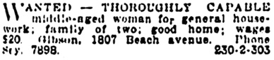 Vancouver Province, March 20, 1914, page 22, column 3.