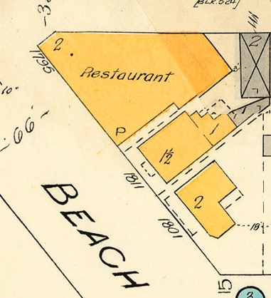 1811 Beach Avenue and 1801 Beach Avenue; detail from Goad's Atlas of Vancouver, volume 1; Plate 64; Cardero Street to Comox Street to Denman Street to Beach Avenue/Burnaby Street; 1972-582.39; https://searcharchives.vancouver.ca/plate-64-cardero-street-to-comox-street-to-denman-street-to-beach-avenue-burnaby-street.