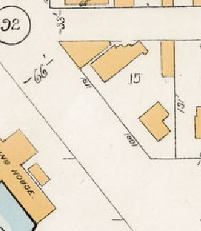 1811 Beach Avenue and 1801 Beach Avenue; detail from Goad's Atlas of the city of Vancouver - 1912 - Vol 1 - Plate 15 - Broughton Street to Denman Street and Davie Street to English Bay.