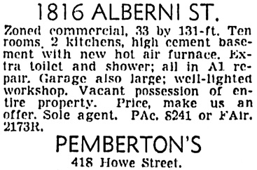 Vancouver Sun, April 23, 1949, page 45, column 4.