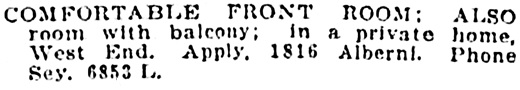 Vancouver Sun, October 7, 1915, page 7, column 4.
