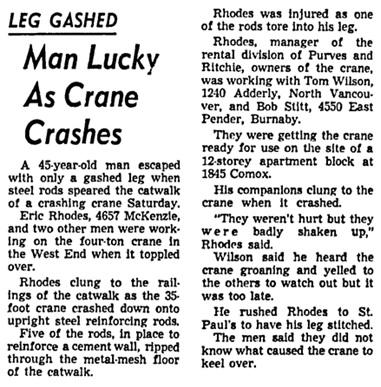 Vancouver Sun, June 8, 1964, page 25, column 5.